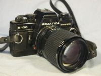 '  B100 NICE SET -135MM 2.8- ' Praktica B100 SLR Camera + 135 mm 2.8 Lens -NICE- £24.99